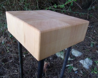 Butcher Block Side, End Table - Douglas Fir