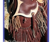 D's Chaps Cowboy Batwing Buffalo Leather Handmade Sass Rodeo Ranch Decor