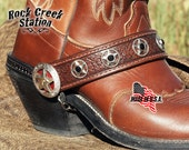 Boot Straps with chains, 5 Star Ranger, Dress up your boring boots.