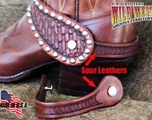 Spur Leathers Hand tooled, wear your spur straps w/o spurs