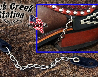 Spur Heel Chains , tie down your spurs w/o drilling.