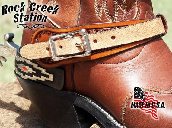 Spur Straps, Gus Turn-Back, Cowboy Handmade leather