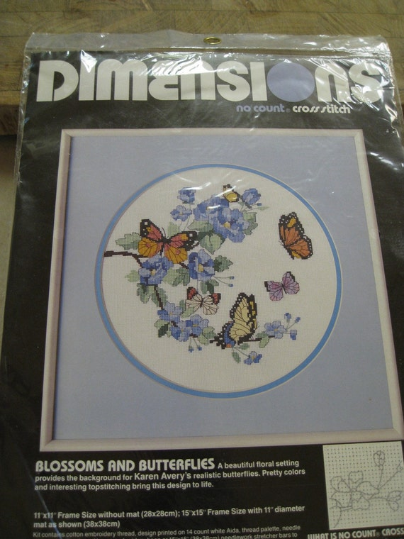 Blossoms and Butterflies No Count Cross Stitch Kit