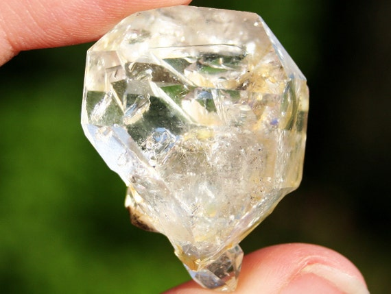 Herkimer Diamond Double Terminated Clear Crystal Cluster Specimen