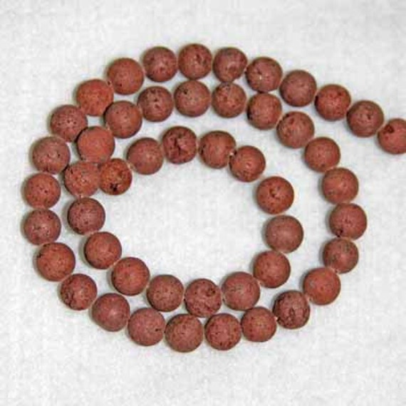 Lava Beads 8mm 24 beads