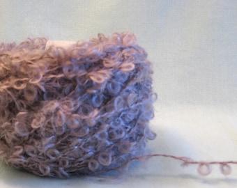 Taupe Boucle Mohair Yarn 50 grams