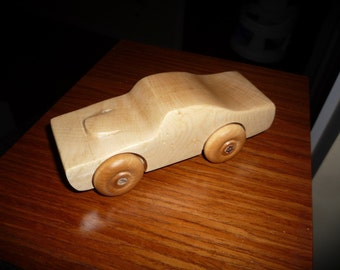Handcrafted Maple Toy Car 1967 GTO