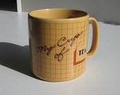 Vintage 80s Hi-Tech Design Tea Mug