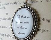 E.A. Poe Quote Necklace
