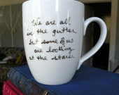 Looking At The Stars Oscar Wilde Quote Mug