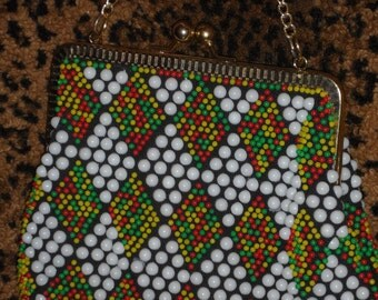 1960s beaded purse  colorful addition to you bead  handbag collection