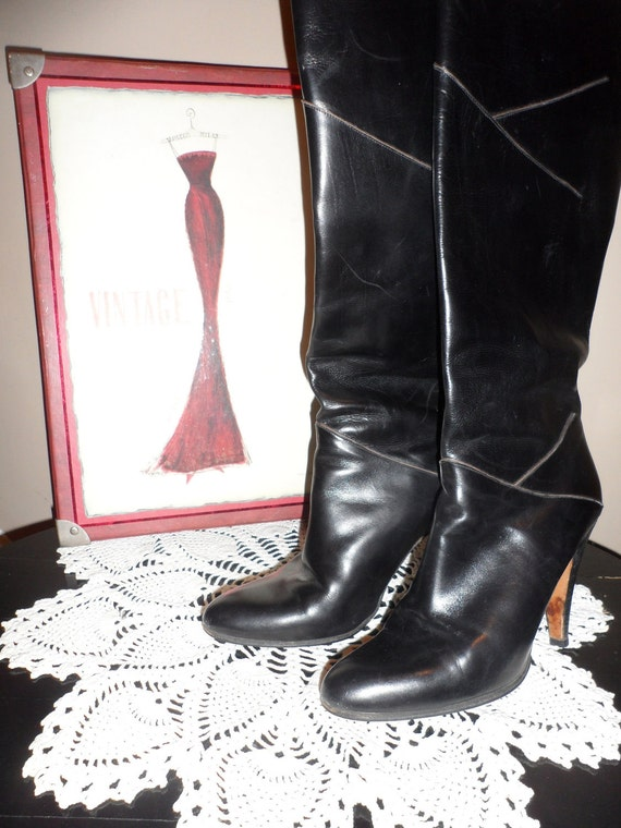 lord and taylor italy designer black vintage boots shape design and style