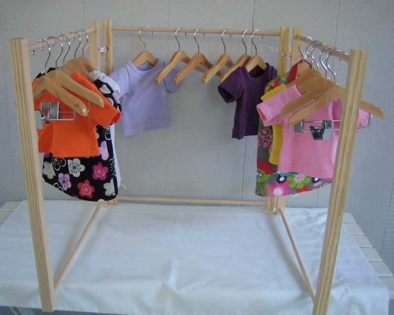 Doll clothes rack for american girl doll 18 by laniescreations