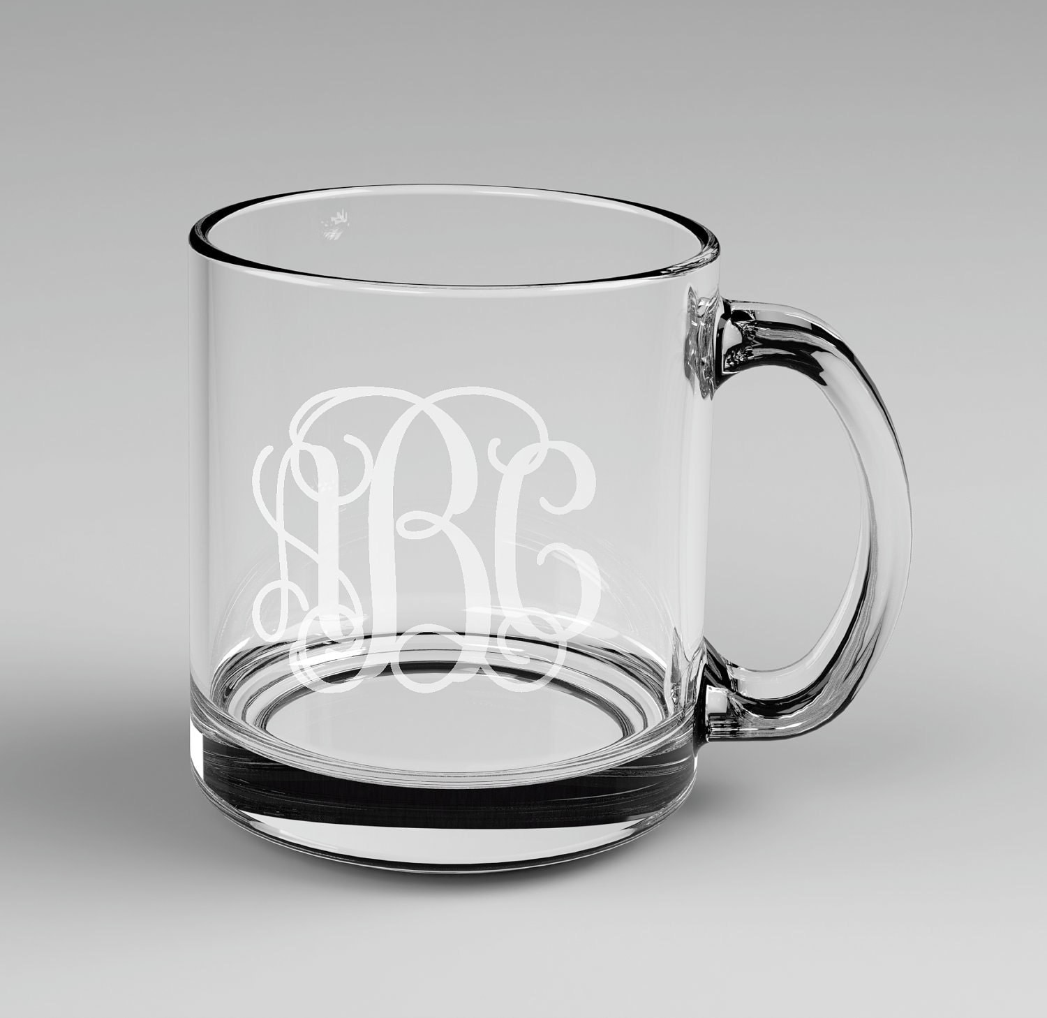 Etched Glass Coffee Mugs