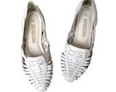 White Wedding Huarache Sandals