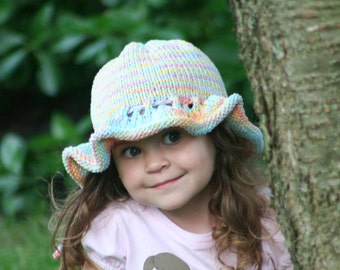 Knitted Sun Bonnet- Children's