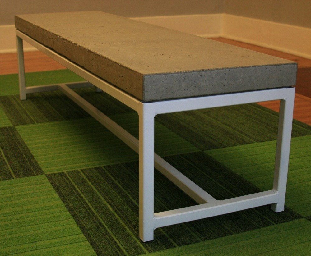Concrete coffee table on a steel frame for Concrete coffee table