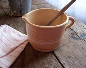 Handmade- NEW-Yellowware Batter Jug/Pitcher- Primitive Farmhouse Kitchenware -MADE IN USA