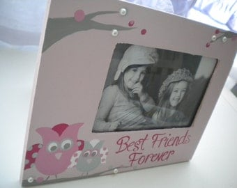 BEST FRIENDS FOREVER Handpainted Picture Frame