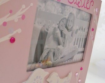 BIG SISTER Picture Frame for Kids- Handpainted