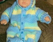 Hooded Baby Sweater Gown