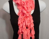 Cotton Candy Ruffle Scarf