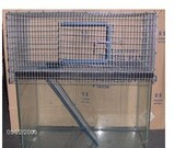 10 gallon 1 Story Aquarium Tank Topper Cage Front Door Hamster Gerbil Rat