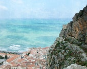 Sicily - By the sea - Ocean Photography, Travel, Jade, Turquoise, Teal, Amber, Terracotta, Seaside