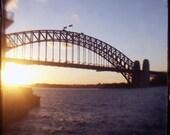 Cityscape, Sydney Harbour, Harbour Bridge, Sunset - Harbour Light