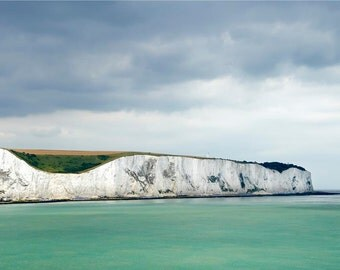 Modern Decor, Abstract, Dover Coast, White Cliffs, Ocean, Seascape, Sea Green, Emerald - The White Cliffs of Dover
