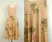 Silk Cacharel Flowing Floral Paris skirt