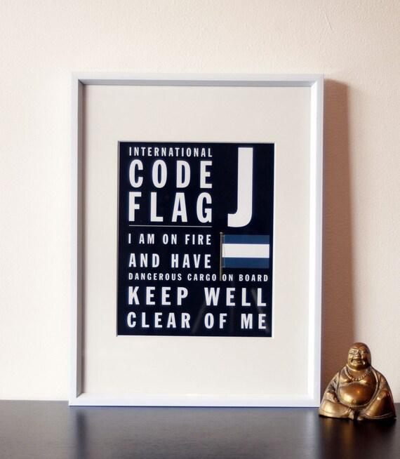 Letter J - International Boat Code Flag