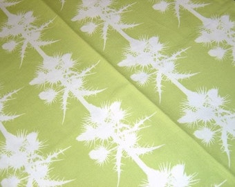 LAST ONE: Thistles Cotton Tea Towel - Apple Green - Botanical Paper Cut Design