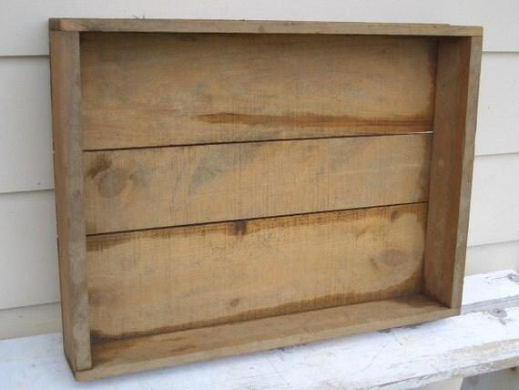 Garden Wood Box Tray Vintage Antique