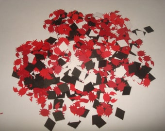 450 Hand Punched Crabs and Black & White Diamonds - Scrapbooking, Cards, Confetti