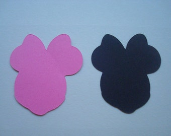 50 Die Cut Minnie Mouse Heads