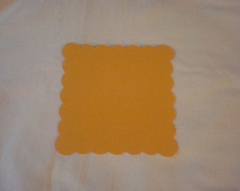 10 5 x 5 inch -Scalloped Squares - Card Stock