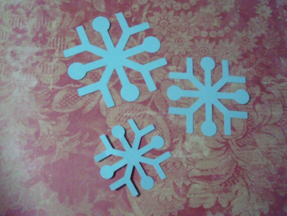 8 sets of Cardstock Snow Flakes
