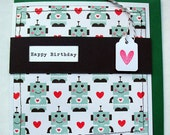 Robot Love Happy Birthday Card