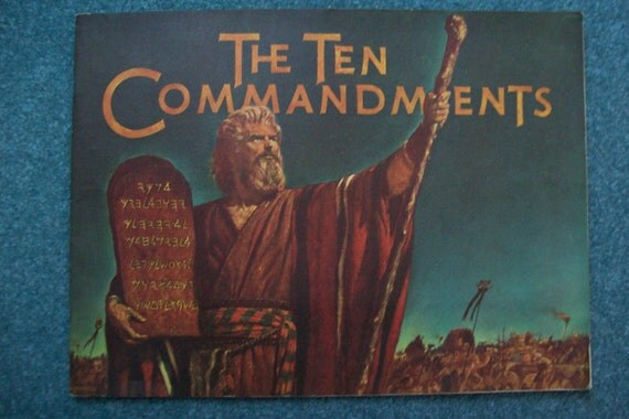 1956 Ten Commandments Movie Souvenir Book