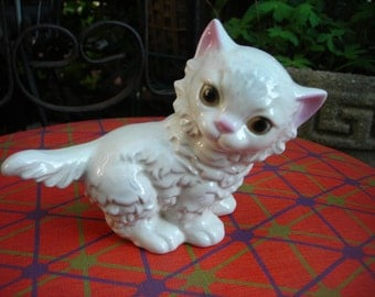 vintage cat figurine white cat goebel w Germany