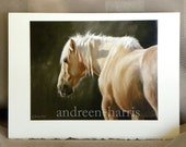 Palomino Wild Horse Greeting Card 5 x 7