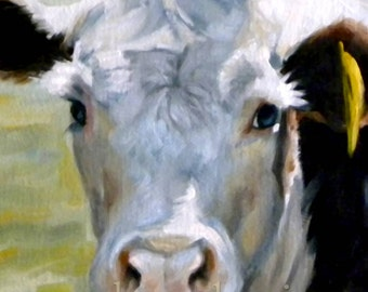 Red and White Hereford Print