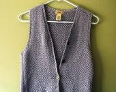 Vintage Lavender Purple Crochet Sweater Vest XS