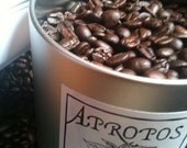 Freshly Roasted Coffee In a Reusable Eco-friendly can-12 oz roasted to Order Coffee Choose Your Bean by Apropos Roasters