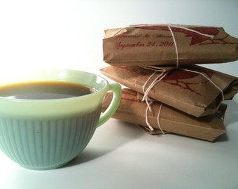 RESERVED Summer Wedding Favors // Custom Wedding Favors Set of 150 coffee gifts.