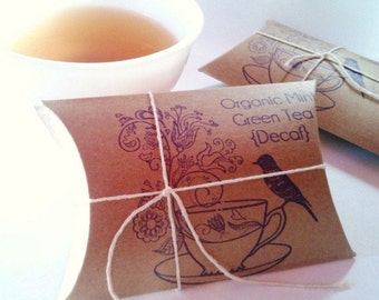 Tea Wedding Favors. Bridal Shower Favors. Tea Party Favors. Loose Tea. Set of 50.