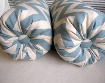 CHEVRON  SPA a pair of bolster pillows 6x14/16/18/20/22