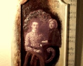 Personalized Special Order:  Vintage Photo on Recycled Cupboard Door