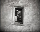 West Texas - Window Inside Windows - Marfa Texas Ruins -  8 x 8 Print Fine Art Photography